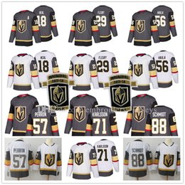 Wholesale Golden Yellow - 2018 New Golden Knights Jersey 18 James Neal 29 Marc-Andre Fleury 56 Erik Haula 57 David Perron 71 William Karlsson 88 Schmidt Hockey Jersey