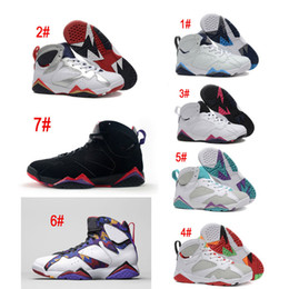Wholesale Blue Minerals - High Quality Retro 7 Women Basketball Shoes 7S VII Hare Nothing But Net Raptor French Blue Neutral Grey Mineral Blue Charcoal Sweater Sneakr