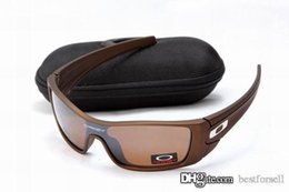 Wholesale Batwolf Sunglasses - New Fashion OKLY Sunglasses Brand Batwolf Designer UV400 OK Cycling Outdoor Racing Sports Bicycle Sun Glasses with cases