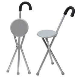 2019 pés para cadeiras Dobramento De Alumínio Tripé Cane Caminhadas Cadeira Portátil Bengala Com Assento De Plástico Antiderrapante Pés Bengala Ferramenta Ao Ar Livre pés para cadeiras barato