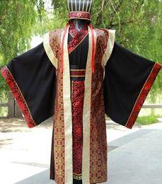 2019 chinesische männer traditionelle kostüme 2018 Herbst Kung Fu Uniformen chinesischen traditionellen Männer Kleidung Tang Kostüme Drachen alten Kaiser passt rabatt chinesische männer traditionelle kostüme