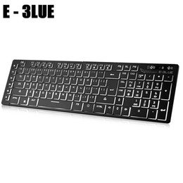 E - 3LUE K761 USB Wired Membrane Keyboard With LED Backlight 109 Keys Full Size English Keyboard For Office Business Work supplier e 3lue keyboard от Поставщики е 3lue клавиатура