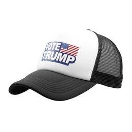 cf9516a5 New Donald Trump Mesh Baseball Caps Vote Trump Logo American Flag Adjustable  Hats Snapback Sport Trucker Hat For Men Women