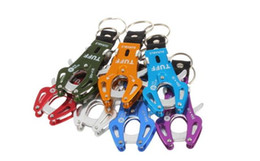 Wholesale Key Ring Clip Lock - Wholesale Fashion Durable Snap Clip Climb Hook Carabiner Clip Lock Keychain Keyring Key Ring New