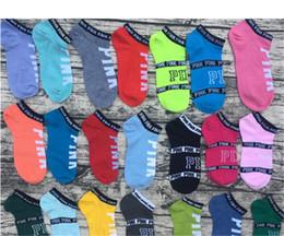 Chaude Rose Lettre Chaussettes Rose Anklet Sport Chaussant Coton De Mode Chaussettes Courtes Fille Pantoufle Sexy Amour Rose Navire Chaussettes D'été Sous-Vêtements ? partir de fabricateur
