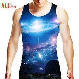 2019 homens da roupa da galáxia Alisister tanque dos homens 3d impressão galaxy space hip hop colete 2018 marca de verão clothing homens de fitness undershirt frete grátis desconto homens da roupa da galáxia