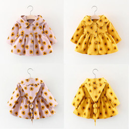 Туфли-куртки онлайн-Newborn Toddler Baby Girls Autumn Long Sleeve Tutu Hooded Coat Button Floral Ligthweigth Jacket Outerwear Warm Clothes Top