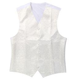 Wholesale Ivory Wedding Waistcoats - New Mens Top Swirl Wedding Waistcoat (ivory white M UK 38)