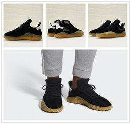 Wholesale Quality Goods Cheap - 2018 Cheap Sale Kamanda Black Suede Black Yellow Raw rubber Casual Running shoes for Good quality Men's Athletic shoes Jogging Size 40-45