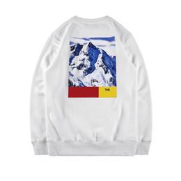 Wholesale Warm Pullovers - Fashion Europe Hight Quality Winter Skateboard Box Logo Snow Mountain Collab Cotton 17FW Warm Down Hooded Men Women Hoody