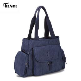 TEGAOTE Top-handle Women Handbag Big Capacity Shoulder Messenger Bag Women  Designer Nylon Beach Casual Tote Female Shopping Bag Y18102604 a5d3f61398f73