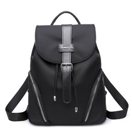 89fa87f10827 2018 Fashion Black Highstreet Modern Lady Metal Ring Detail Zipper PU  Backpack Streetwear Backpacks School Bags For Girls modern backpacks women  outlet