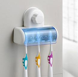 Küchenwand stand online-5 Zahnstangen Staubdichter Zahnbürstenhalter Für das Bad Küchenfamilienhalter Für Zahnbürsten Saughalter Wandhalter Haken