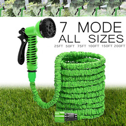 water garden pipe spray Promo Codes - Hot Selling 25FT-150FT Garden Hose Expandable Magic Flexible Water Hose EU Hose Plastic Hoses Pipe With Spray Gun To Watering