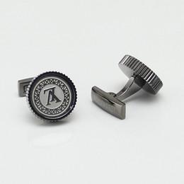 Joyería de moda de metal online-Marca de fábrica francesa Joyas de metal Moda Hombre Accesorios Traje Camisa MB Gemelos, Hombres de cuero genuino MB Billetera Mini Clip en efectivo