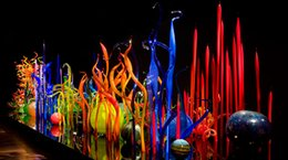 Wholesale glass sculptures - Blown Glass Art Crafts Murano Glass Spears for Garden Chihuly Style Sculpture