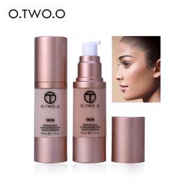 Wholesale foundation coverage - O.TWO.O Liquid Foundation Beauty Waterproof Flawless Coverage Base Cosmetics Liquid Foundation Cream Makeup Primer
