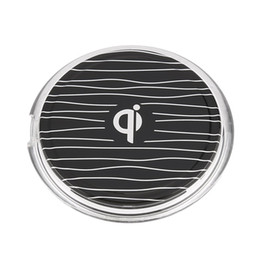 Wholesale Custom Cellphone - QI Wireless Phone Charger Charging Adapter Dock Station For Android Cellphone Black New Arrival DHL Free Shipping ZA469401