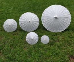 Wholesale Bridal Parasols - bridal wedding parasols White paper umbrella Chinese mini craft umbrella 5 radius:10,15,20,30,42cm wedding favor decoration