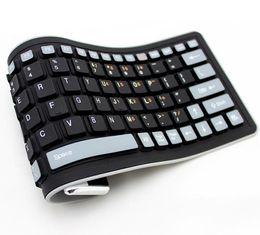 Wholesale Silicone Bluetooth Keyboard Ipad - Bluetooth Wireless Soft Silicone Keyboard Foldable Waterproof Universal Portable for ipad iphone Samsung Smart mobile phone