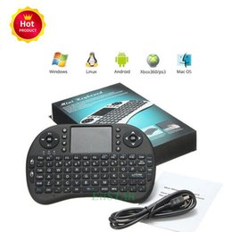 Wholesale Fly Notebook - 2018 i8 Wireless Mini Keyboard 2.4G English Fly Air Mouse Keyboard Remote Control Touchpad for Smart Android TV Box Notebook Tablet Pc