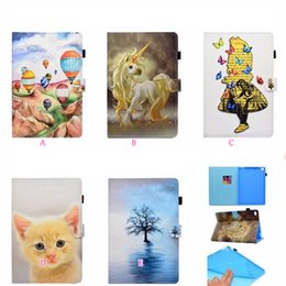 Wholesale kindle fire cover leather - For kindle Paperwhite1 2 3,Fire 7 2015,Fire HD8 2016 2017 Balloon Butterfly Sea Unicorn Marble Leather Wallet Holder Card Case Skin Cover