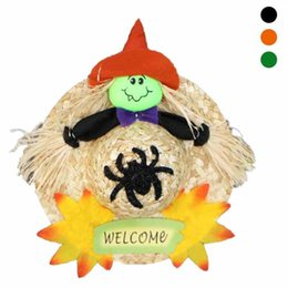 Wholesale Pumpkin Ornaments - Halloween Pumpkin Straw Caps Party Performance Decoration Props Hat Head Dress Accessories Festive Ornament 3