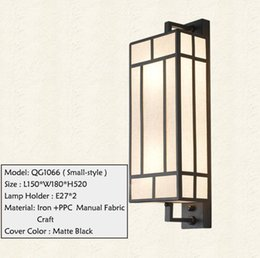 Wholesale Handicraft Wall - New Chinese Style Wall Lamp Iron PPC Material Fabric Handicraft Custom-made