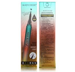 Wholesale pencils draw - 1PCSMakeup Black Liquid Eyeliner Pencil Waterproof 24H Long-lasting Anti-blooming Accurate Draw Eye Liner Pen Make Up