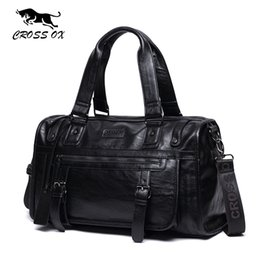 Wholesale laptops 14 - CROSS OX Autumn New Arrival Mens Handbag Big Capacity Travel Bag High Quality PU Leather Luggage Bags 14 Inch Laptop Bag HB572M