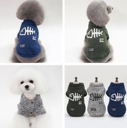 2019 bom inverno Agradável cão de estimação traje casaco outono inverno cão roupas camisola de pelúcia bichon algodão cães vestuário pet suprimentos bom inverno barato