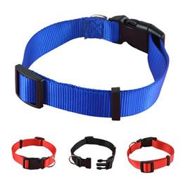 Taille du collier chiot en Ligne-3 couleurs 4 tailles Pet Collar rouge / bleu / noir en nylon chien chiot collier pour animaux de compagnie