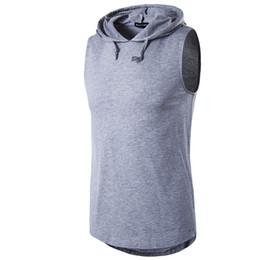 Wholesale Cotton Tanks - Wholesale - New Men's Hoodies Sweatshirts Training Male sports vest Men's t-shirts Cotton Vests Casual Hoodies Europeans Men's Tank Tops