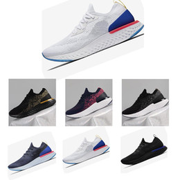 Wholesale new knitted - 2018 New Boost Epic React Knitting vapormax mens shoes Casual Running Shoes air High Elastic Boost Men and Women Sports Trainer Sneakers