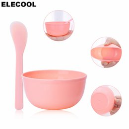 Миска для лица онлайн-ELECOOL 1Set Facial Skin Care DIY Mask Make Up Face Mask Tool Set Kits Mixing Bowl Stick set Beauty Facial Skin Care Tools