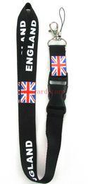 Distintivo britânico on-line-10 pcs Novo sobre padrões de Design em bandeiras Britânicas e Americanas Lanyard Keychain Chaveiro ID Badge ipod telefone celular titular colhedor faixa Pescoço