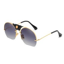 Moda Donna Uomo Metal Frame Shades Occhiali da sole Integrati Occhiali da vista UV Occhiali da sole Eyewear per Kid Kid UV400 Occhiali da sole da