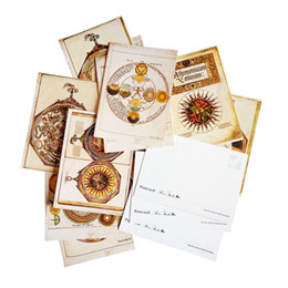 Wholesale Friends Day Cards - 16 Pcs lot Ancient Rome Style Postcard Greeting Cards Vintage Postcards For Friend Gift Greetings