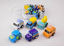 Wholesale Mini Construction Cars - Pull Back Vehicles ,6 Pack Assorted Construction Vehicles Toy, Die Cast Vehicles Truck Mini Car Toy For Kids Toddlers Boys,Pull Back and Go