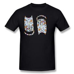 Tela de gatito online-Venta al por mayor de los hombres 100% algodón tela Otoño Kitty Tee-Shirt Hombres O-cuello verde oscuro de manga corta camisetas S-6XL Normal Tee-Shirt