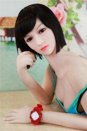 Wholesale japanese anime silicone dolls - 168cm Silicone Big Breast Sex Dolls Oral Anal Vagina Japanese Skeleton Adult Mini Lifelike Anime Love Dolls for Men