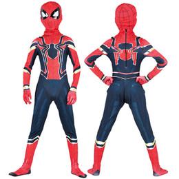 Muchachos de Halloween Nano acero spiderman estilo muscular trajes de  Cosplay 2018 New Kids Avengers Superhero traje cosplay ropa + máscara 2pcs  conjuntos ... ae98f986c0736