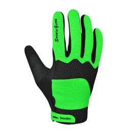 Wholesale Road Bicycle Winter Gloves - Top Sale Green Winter Full Finger Cycling Bicycle Bike Gloves Sports Accessory road Mountain Bike Silicone Running Gloves