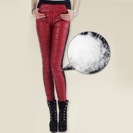 Wholesale women winter down pants - Winter Mid Waisted Feather Pants Women's Casual Pant Fashion Slim Warm Windproof Thick Down Pants Trousers Skinny Outerwear