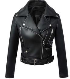 Giubbotto da donna in ecopelle nero Giacche da biker Giubbotto da aviatore nuovo 2016 Giubbotto corto da motociclista Giubbotto da uomo Jaqueta corto blu S-XL da maniche in pelle con giacca da uomo fornitori