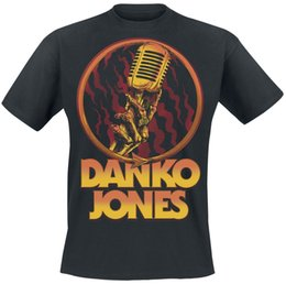 jones t shirts Promo Codes - Danko Jones Microphone T-Shirt black Style Round Style tshirt Tees Custom Jersey t shirt