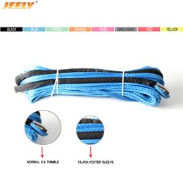 Canada Livraison gratuite 15MM 30M 12 brins UHMWPE tresse synthétique cordon cordon avec dé à coudre pour VTT / UTV / SUV / 4X4 / 4WD / OFF-ROAD / BATEAU Offre