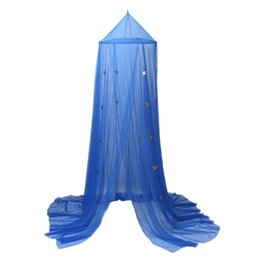 Wholesale Baby Play Tents - Children Room Dome Canopy Kids Play Tent Mosquito Net with Blue Stars Baby Kids Indoor Playing Reading in the Dreaming Room