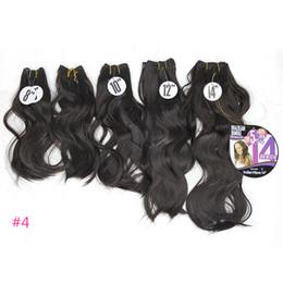 """2019 permanentes extensions de cheveux humains La vague naturelle 8-14 """"synthétiques cheveux Bundles Body Wave Weave Trame de cheveux coudre dans les extensions de cheveux résistant à la chaleur 5pcs / Pack One Head"""