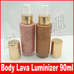 Wholesale full body makeup - New Beauty Makeup Body Lava Bronzers & Highlighters body luminizer illuminateur pour le corps 90ml Brown Sugar Who Need Cloths 2 colors